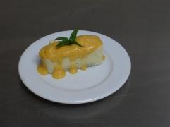 pastisset d'anacard amb salseta de mandarina